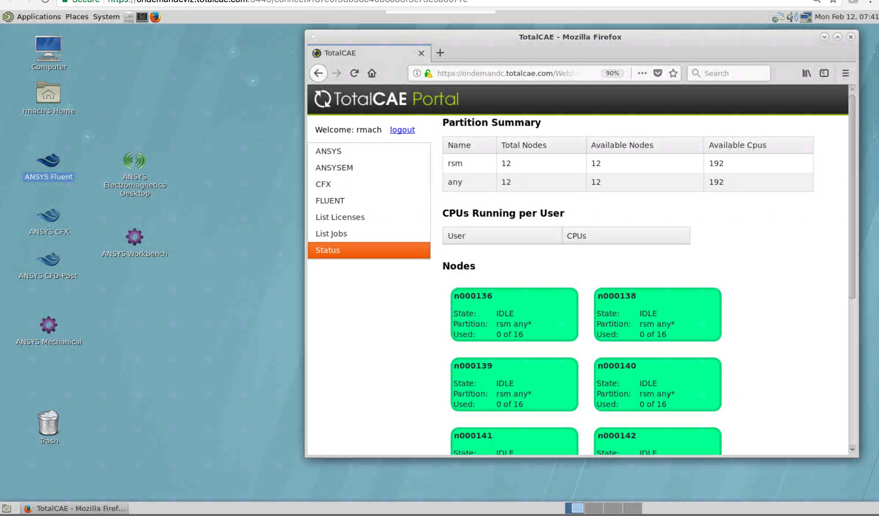 TotalCAE Remote Viz for ANSYS Fluent