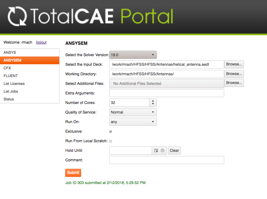 ANSYS Electromagnetics with TotalCAE Portal