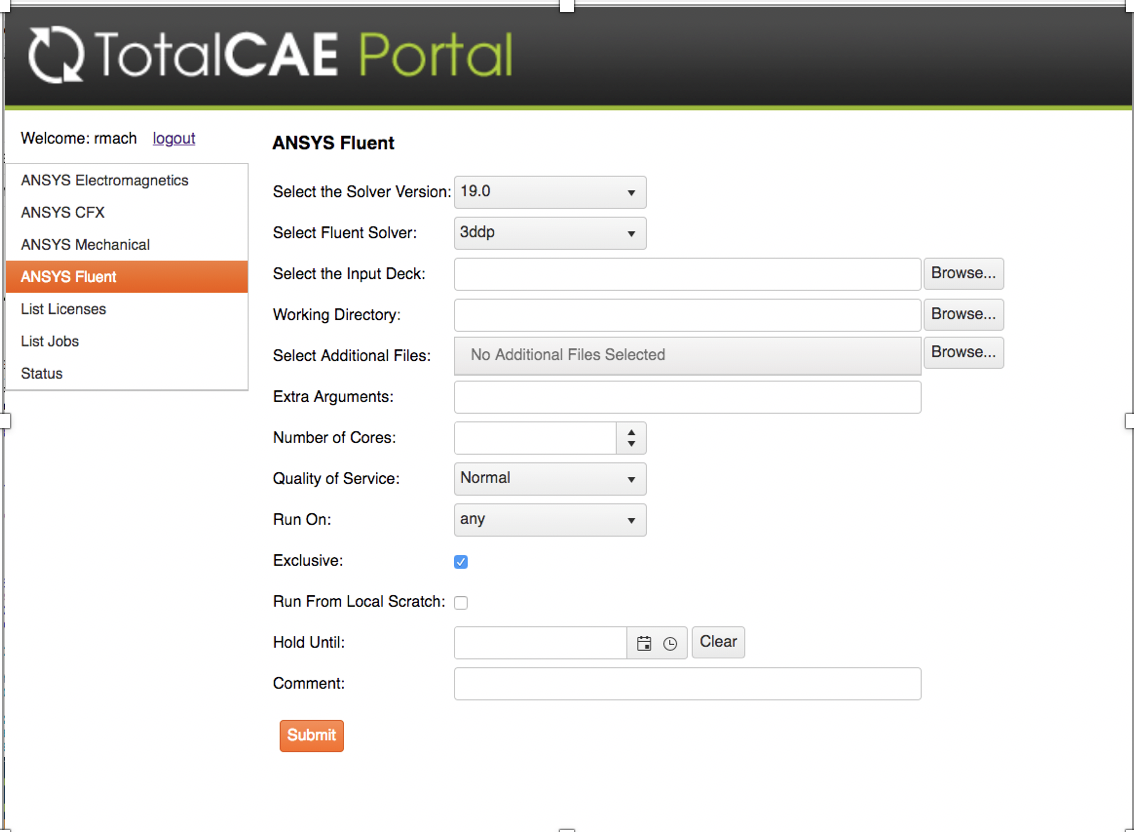 TotalCAE Portal for ANSYS