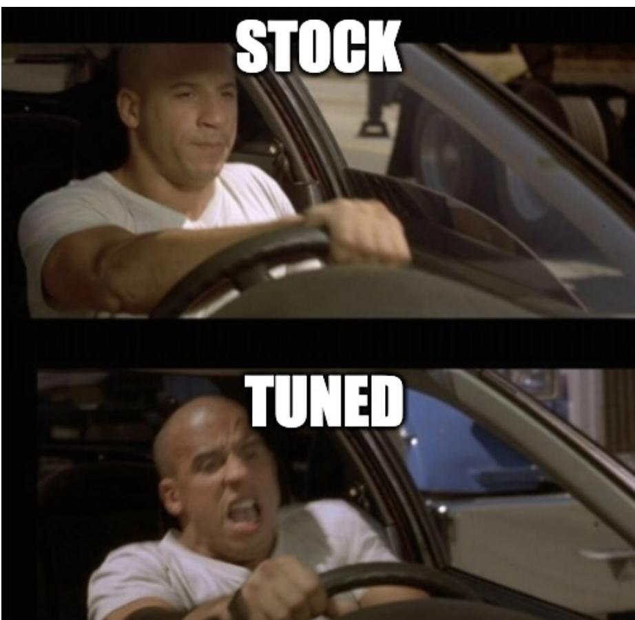 stock vs tuned